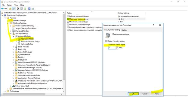 Maximum Password Age Grayed Out, Cannot Change Password On Windows