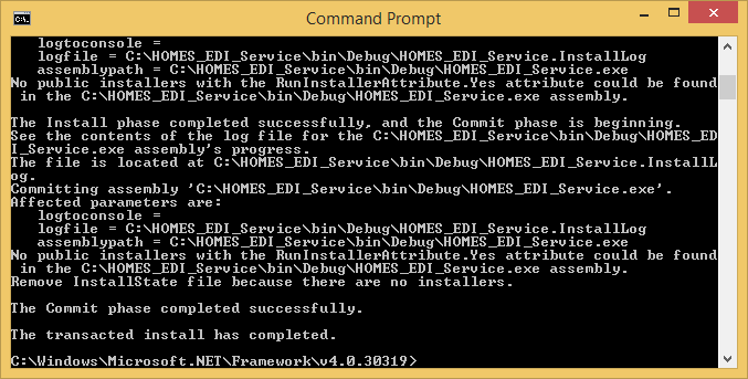 install exe using cmd prompt