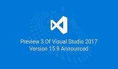 Microsoft Announces Preview 3 Of Visual Studio 2017 Version 15.9