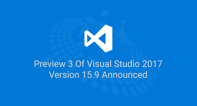 Microsoft, Visual Studio 2017, Visual Studio Version 15.9, C# Corner