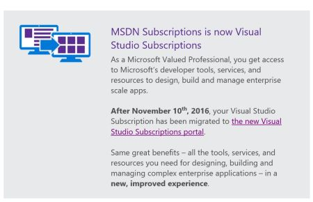 MSDN Subscriptions Is Now Visual Studio Subscriptions
