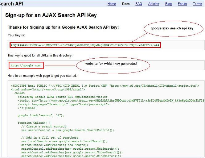 How to use google ajax search api to embed video searh in web ...