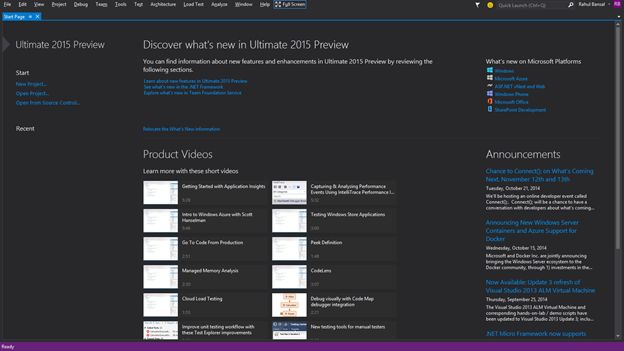 Visual Studio Ultimate 2015