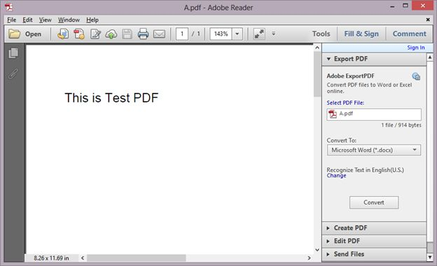 text in the PDF file