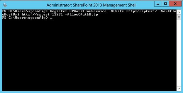 Run the command in SharePoint Management Shell