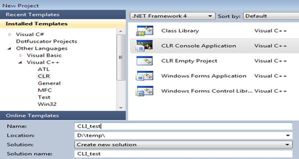 clr console application