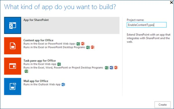 Enable document library content types in sharepoint 2013 for Document library content type