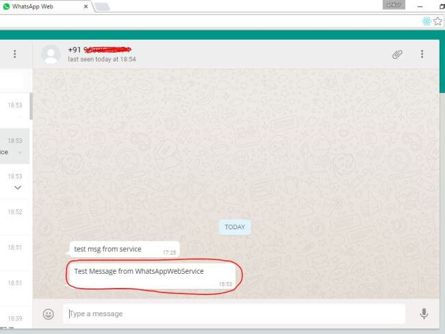 how to send whatsapp message to unknown number