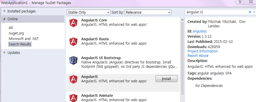 installation angularjs