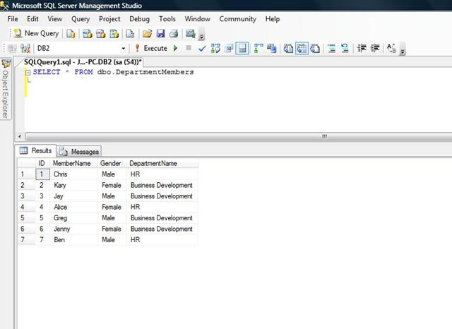 Row_Number in SQL