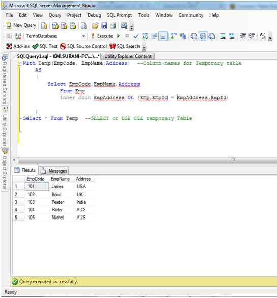 Sql server query cte parent child, works in 2012 local but not in.