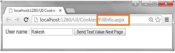 Fill Cookies value