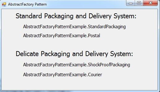 Factory Design Pattern Example C