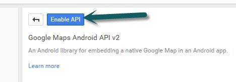 Enable Google Maps Android API