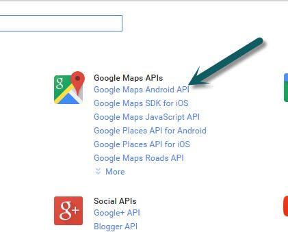 Google Maps Android AP