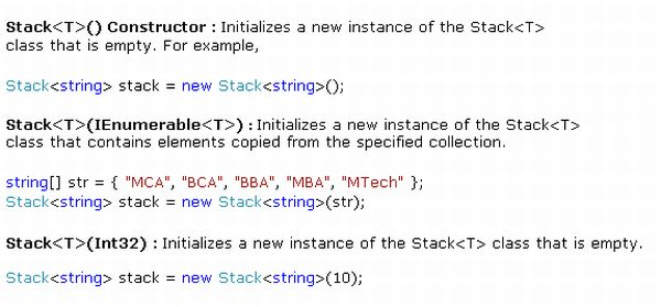 Working On Stack Using C#