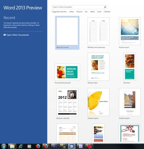 word 2013 templates