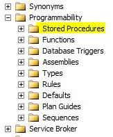 Go to Stored Procedures folder