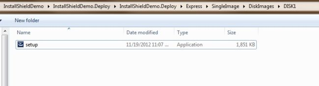 Create Setup File using InstallShield