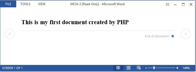 Here Com Only Works In Windows And Functions Are Available For The Version Of Php