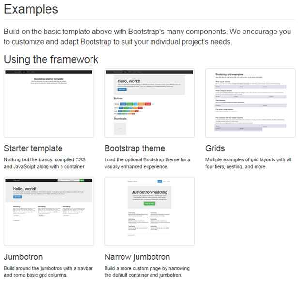 example of Bootstrap