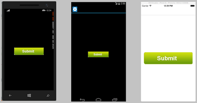 xamarin how to add event handlers to buttons