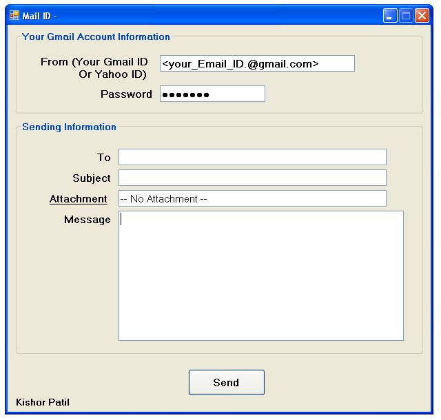 send mail using gmail  yahoo account in vb net and c  net