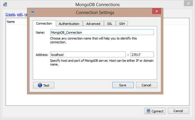 generate a MongoDB connection