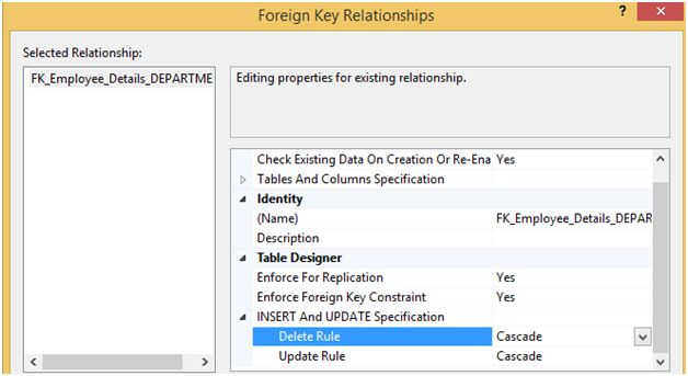 In this method first we disable the Foreign Key constraint then we  implement our Delete or Update command and after completing the query we  again enable the ...