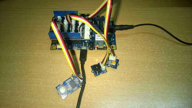 Base Shield on Galileo Gen 1 and connected the PIR Sensor to pin D2