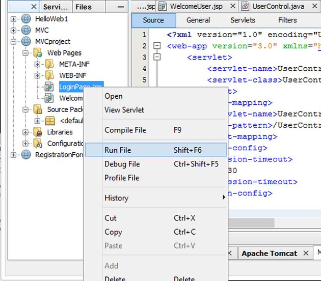 how to call jsp page from web xml