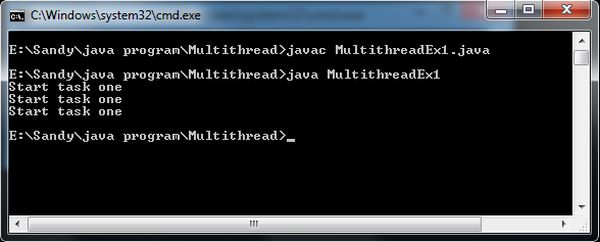 Perform Single And Multiple Task Using Multiple Thread In Java