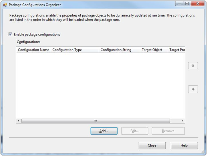 Enable package configuration