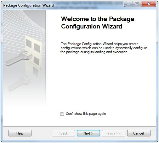 Package configuration Wizard