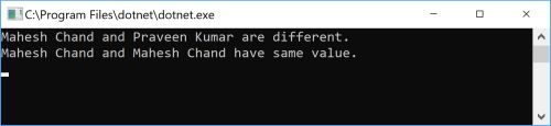 Compare two strings in C#