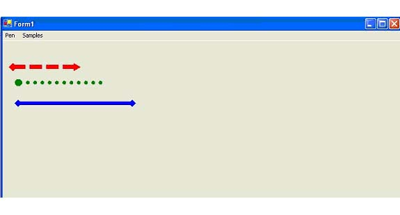 Drawing Lines Wpf : Linecap dashcap and dashstyle in gdi