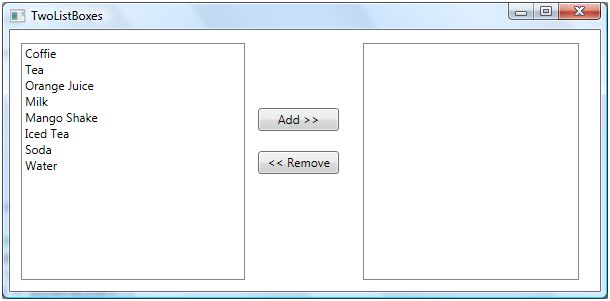 ListBox In WPF
