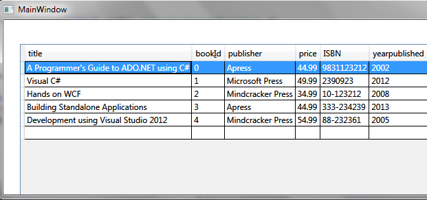 load an xml file into a wpf datagrid