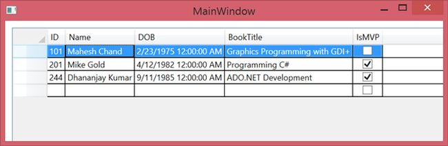 Mastering WPF DataGrid in a Day: Hour 4 DataGrid Rows