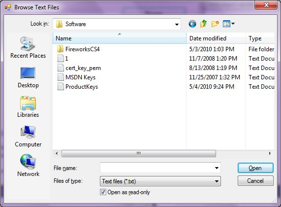 OpenFileDialog In C#