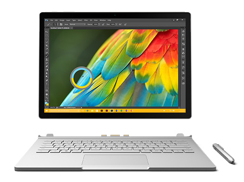 meticulously crafted and ultra thin surface book is the ultimate device for powering your ideas its 135 inch pixelsense rivals the printed page with a