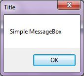 MessageBox with Title