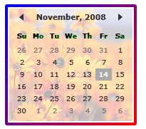 Setting Image as Background of a Calendar