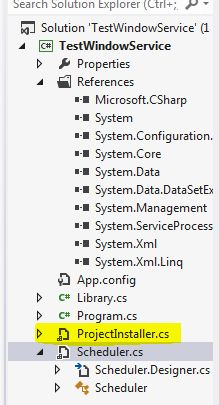 Write log windows service c#