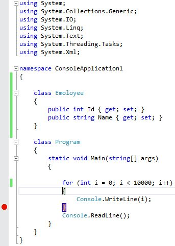 breakpoint change line example