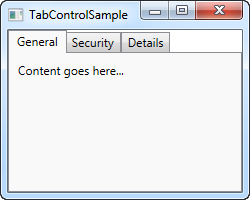 tab control sample