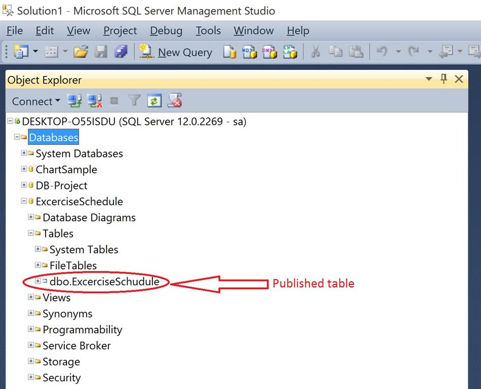 How To Create Database Project In Visual Studio 2015