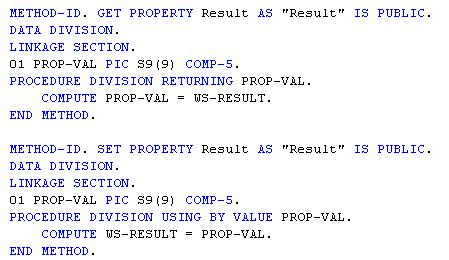 accessing cobol properties with c