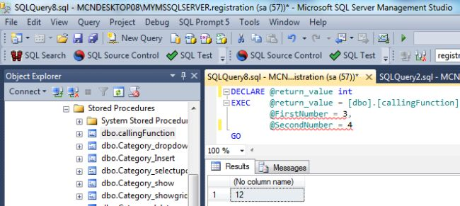 sql server select exec result