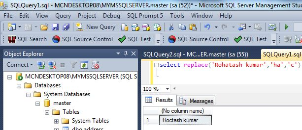 Replace function in SQL Server